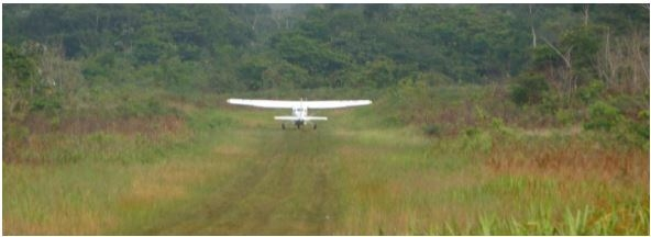 Take-Off from the Manalai Airfield, Mount Caburai Expedition